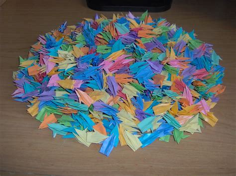 origami images 1000 cranes hd wallpaper and background