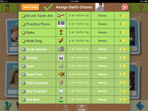 home chores app chore pad hd on the app store on itunes