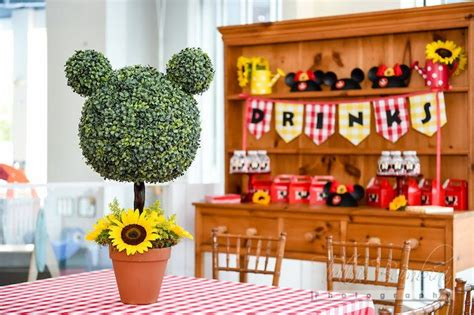 minnie mouse backyard party minnie mouse topiary centerpiece from minnie mouse