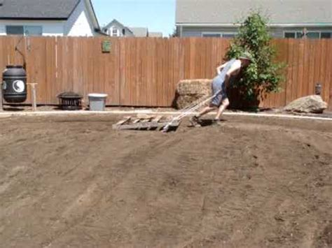 how to level the backyard leveling out the ground the ole fashioned way youtube