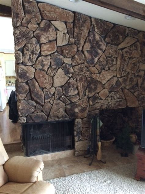 help what to replace lava rock fireplace