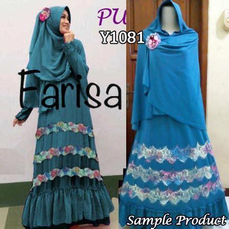Mukena Katun Isyana Keren Trendy Murah Best Seller Fashion gamis farisa rainbow y1081 baju muslim murah