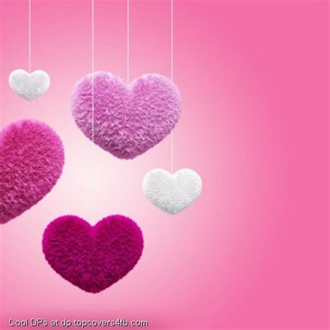 heart display pics awesome dp pink fluffy hearts whatsapp dp best pics