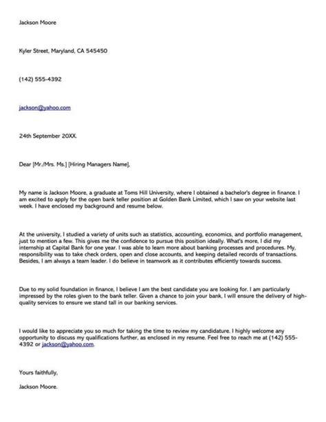 cover letter bank job application samples templates