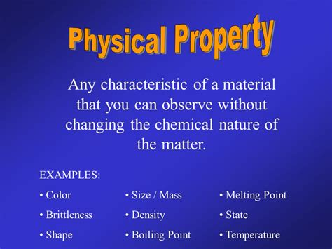 is color a physical or chemical property the point of today distinguish between physical and