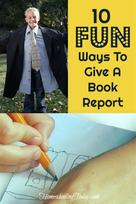 how to present a book report homeschooling today magazine 10 ways to give a book