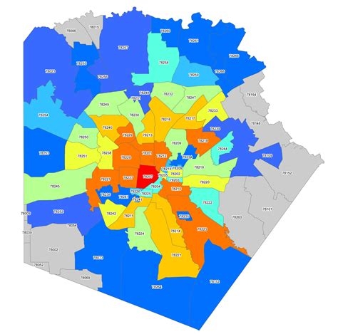 san antonio texas zip code map san antonio zip codes surrounding areas pictures to pin on pinsdaddy