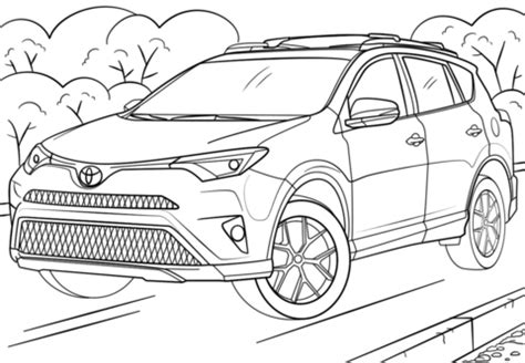 toyota rav4 coloring page | free printable coloring pages