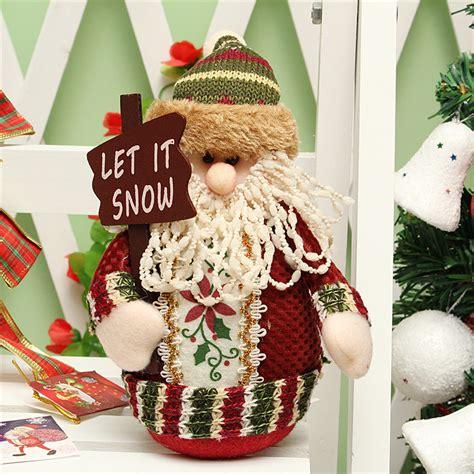 Decoration Santa Snowman santa claus snowman deer stuffed doll standing