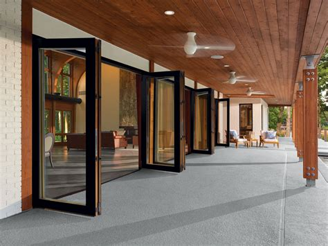 Bi Folding Doors Exterior Folding Patio Glass Doors Marvin Doors