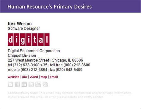 Business Card Signature Template by Dissecting An Email Signature S Content Digitech Branding