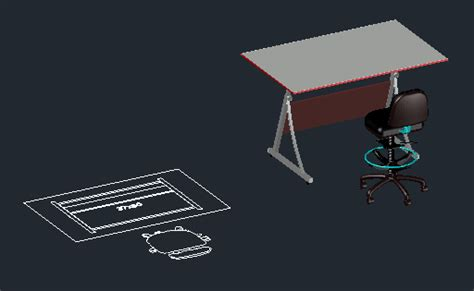 Cad Drafting Table Cad Forum Block Model Drafting Table With Stool Office