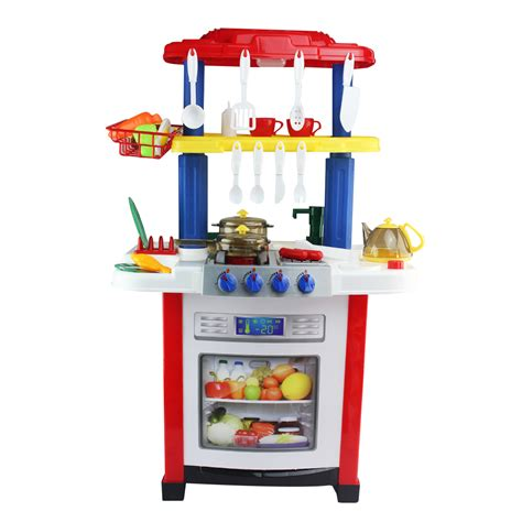 Interactive Electronic Kitchen Play Set Electronic Kitchen Cooking Pretend Play Set