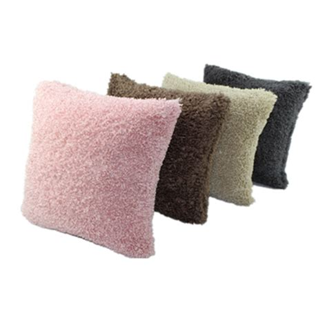 discount throw pillows for sofa cheap new product soft plush faux fur wholesale