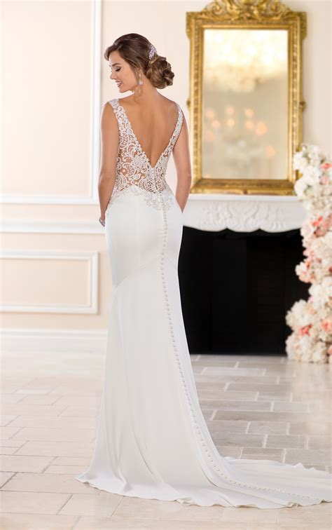 backless wedding dresses backless sheath wedding gown