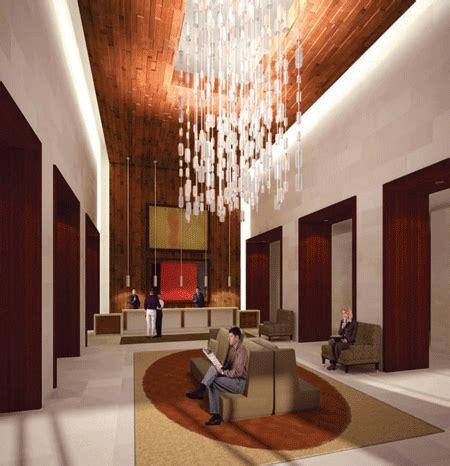 warm hang l interior design modern hotel lobby interior design with hanging l