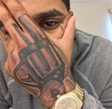 gun hand tattoo kevin gates kevin gates kevin gates and