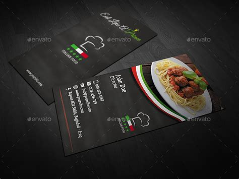 Italian Restaurant Gift Card - italian restaurant business card design best business cards