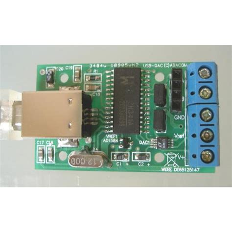 Usb Dac usb dac two outputs 12 bit 4 095 v electronic software