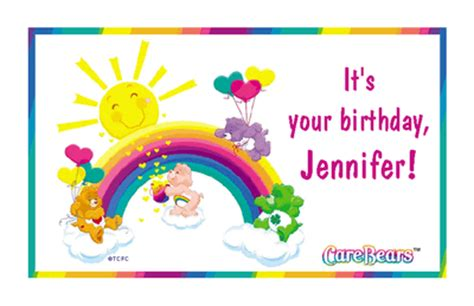 """rainbow birthday wishes"" | birthday printable card | blue"
