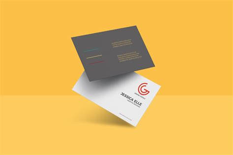 business card psd template floating business card mockup psd template navy themes