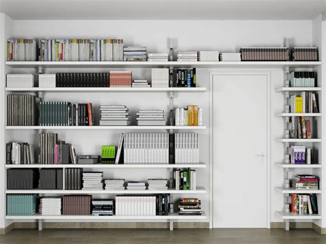 open wall mounted shelving unit clok by de rosso