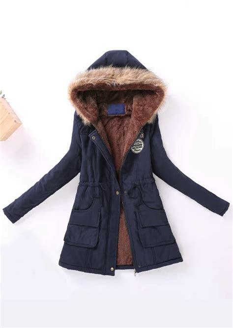 Parka Zipper embroidery zipper hooded parka jacket fairyseason