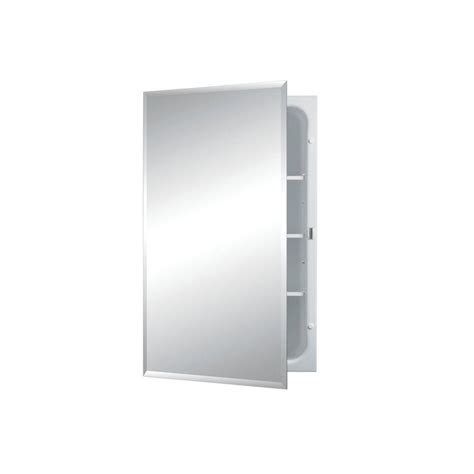 frameless mirrored medicine cabinet recessed horizon 16 in w x 26 in h x 4 1 2 in d frameless