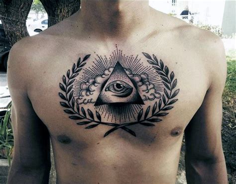 eye tattoos for men 90 triangle designs for manly ink ideas
