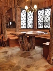 Rustic Mirrors For Bathrooms by Cedar Log Breakfast Nook After Rustic Dining Room By
