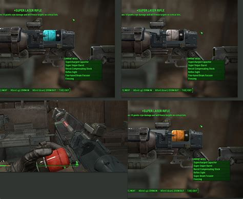 overcharged capacitor fallout laser rifle mods with standalone textures fallout 4 mod fo4