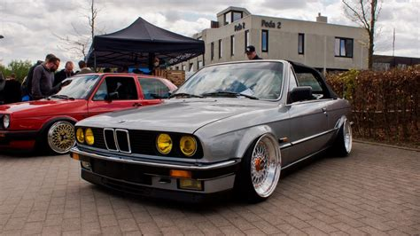 bmw e30 stanced stanced bmw e30 on bbs rs wheels 4k