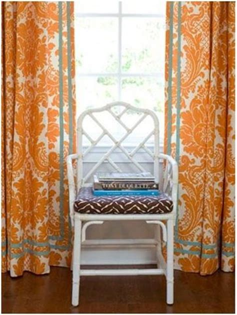 Orange And Teal Curtains Color Spotlight Orange With Blue