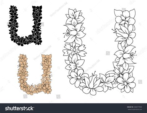 decorative font lowercase decorative alphabet letter u in lowercase font with