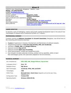 Mca Fresher Resume Sle Resume Free Mca Resume Format For Freshers Resume Format For Mca Freshers Pdf