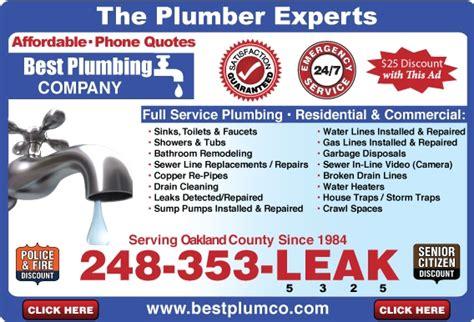 Best Plumbing Service Best Plumbing Best1 Rooter Heights Mi
