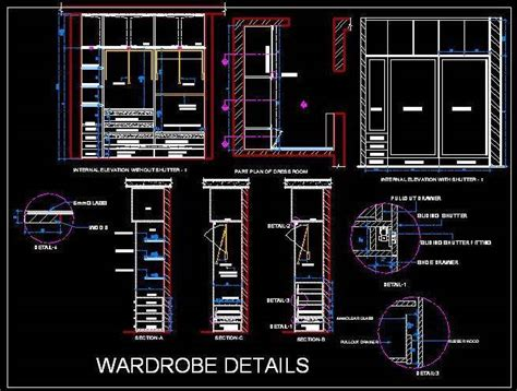 Sliding Wardrobe Cad Detail   Autocad DWG File   Plan n Design