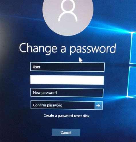 windows reset password vs change password i will not be able to log back into windows 10 when i log