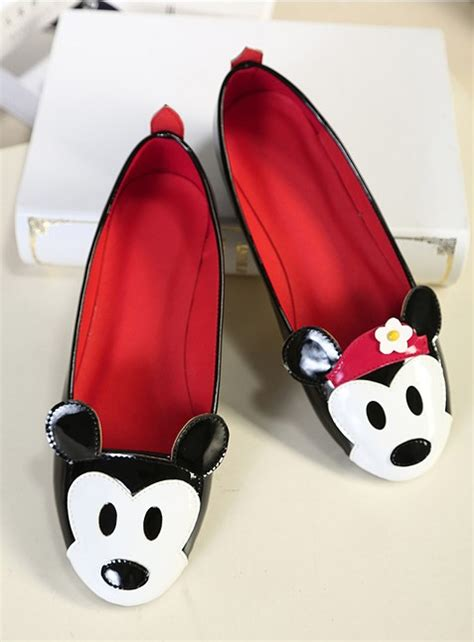 mickey mouse flats shoes fashion mickey mouse flat shoes on luulla