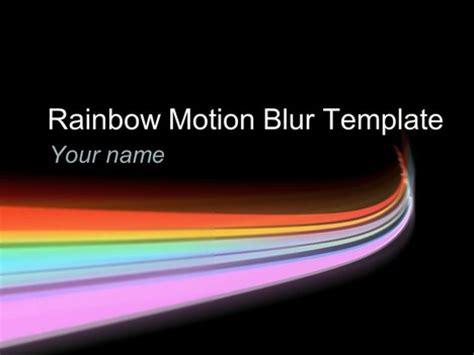 rainbow motion blur template