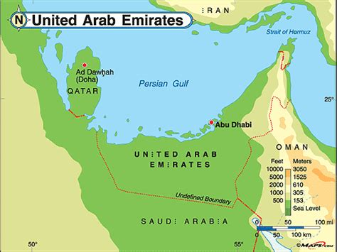 geographical map of uae geography and environment united arab emirates