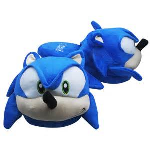 sonic slippers one pair the hedgehog sonic soft plush slipper ebay