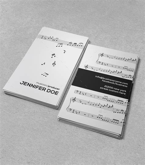 business card template musician musician appreciation program outline 187 tinkytyler org