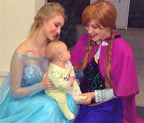 Rel Sisir meet frozen princess elsa look alike carlson