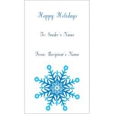 Avery 8875 Business Card Template by Templates Snowflake Gift Tags On Business Cards 10 Per