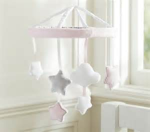 pink and clouds crib mobile contemporary baby