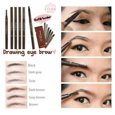 Etude Eyebrow etude house drawing eyebrow 6 black q depot