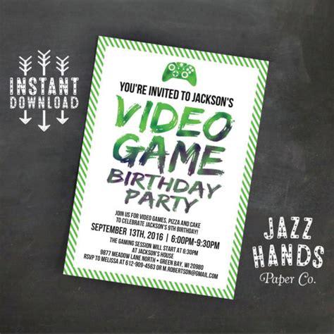 Free Printable Birthday Invitations Video Games | printable video game birthday invitation template diy