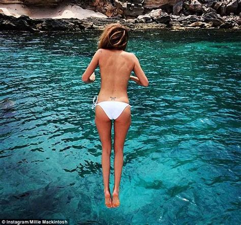 jump boat definition millie mackintos goes topless aboard yacht in ibiza ahead