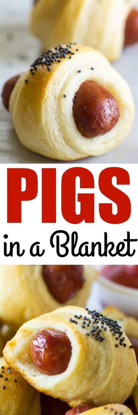 Crescent Roll Pig In Blanket by Easy Pigs In A Blanket Recipe Pigs In A Blanket